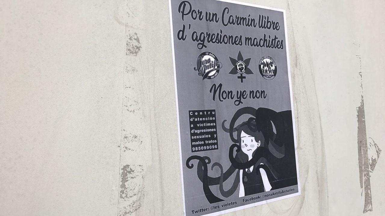 Cartel contra las agresiones machistas de El Carmín