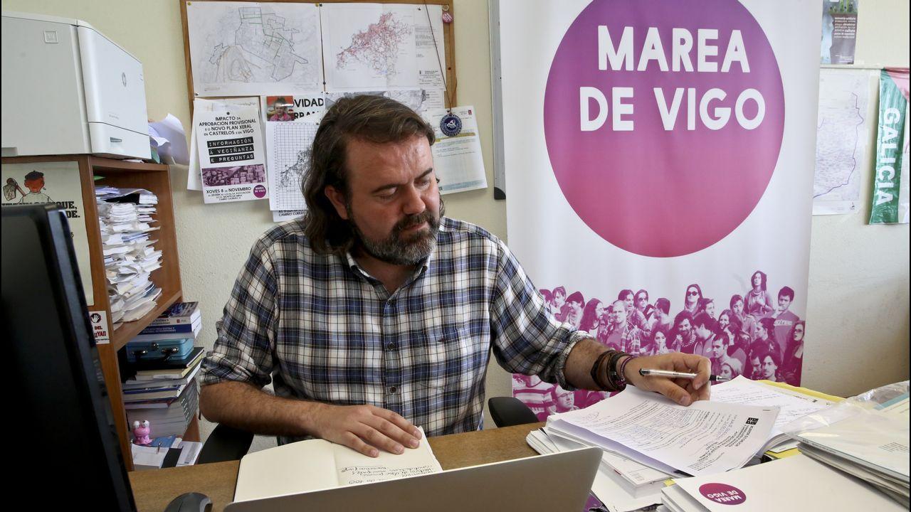 Pleno de la investidura en Vigo.Imagen de archivo de un pleno en el ayuntamiento de Ourense