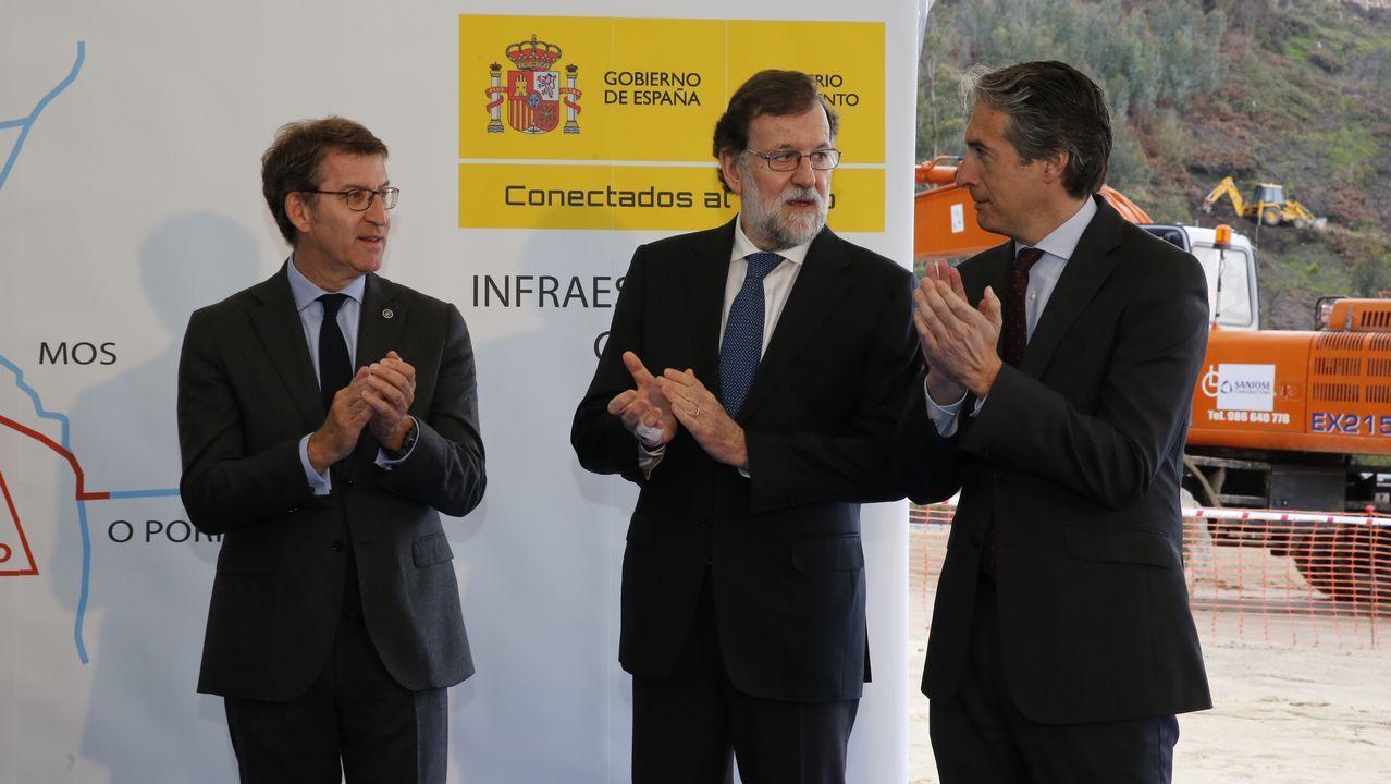 Rajoy anuncia una alternativa al tramo de curvas de la A-55 en Mos.
