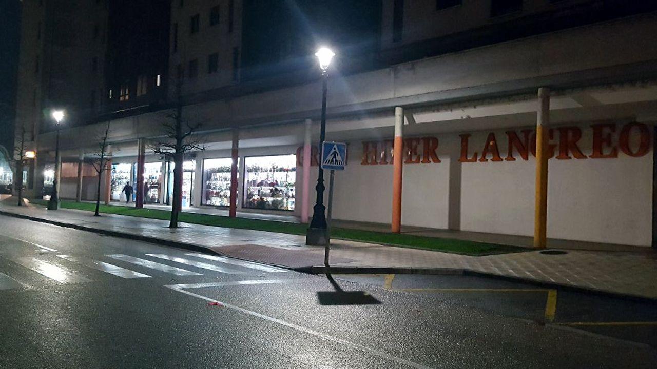 Paso de peatones en Langreo Centro (La Felguera) en el que murió atropellada una mujer.Paso de peatones en Langreo Centro (La Felguera) en el que murió atropellada una mujer