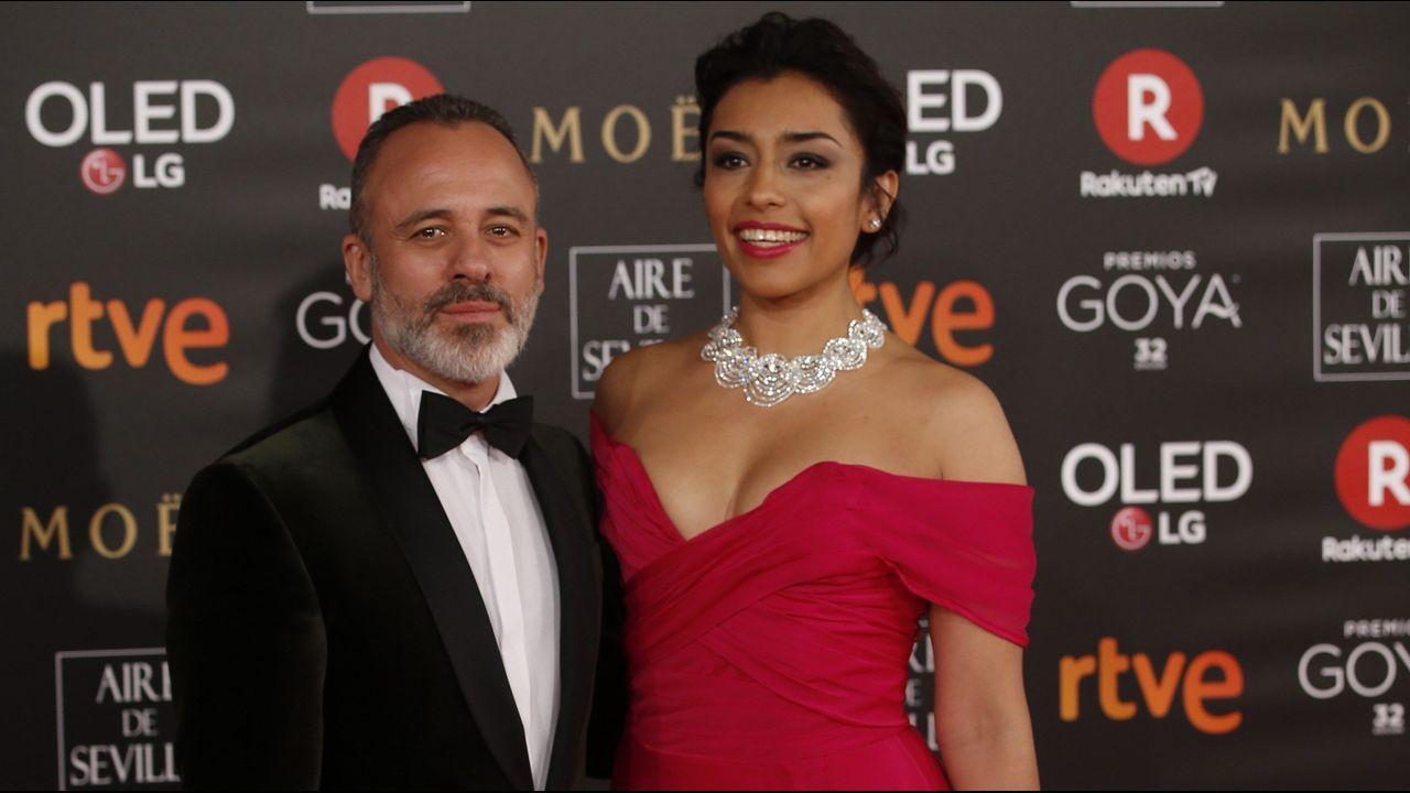 .El actor Javier Gutierrez y la actriz mexicana Adriana Paz.
