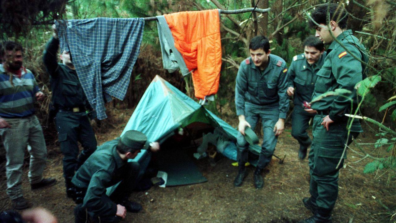 La Guardia Civil descubrió el zulo donde se escondia «Rambo» en unos montes de Xove