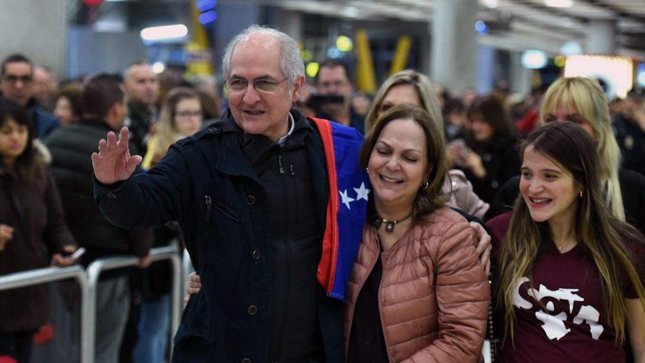 Antonio Ledezma, tras llegar a Madrid: «Me siento libre».
