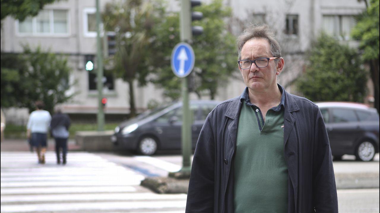 .José Manuel, en el paso de peatones donde tuvo lugar el accidente
