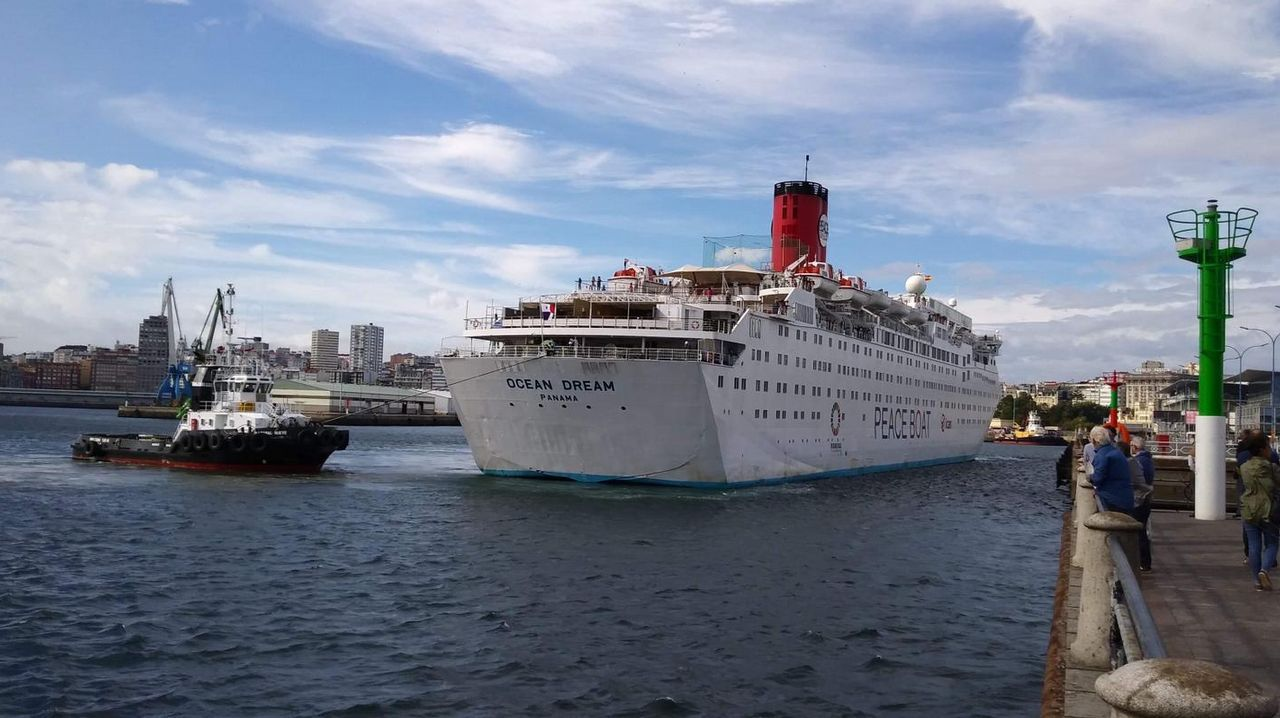 Llega el Ocean Dream al puerto de A Coruña.Ocean Dream, Peace Boat