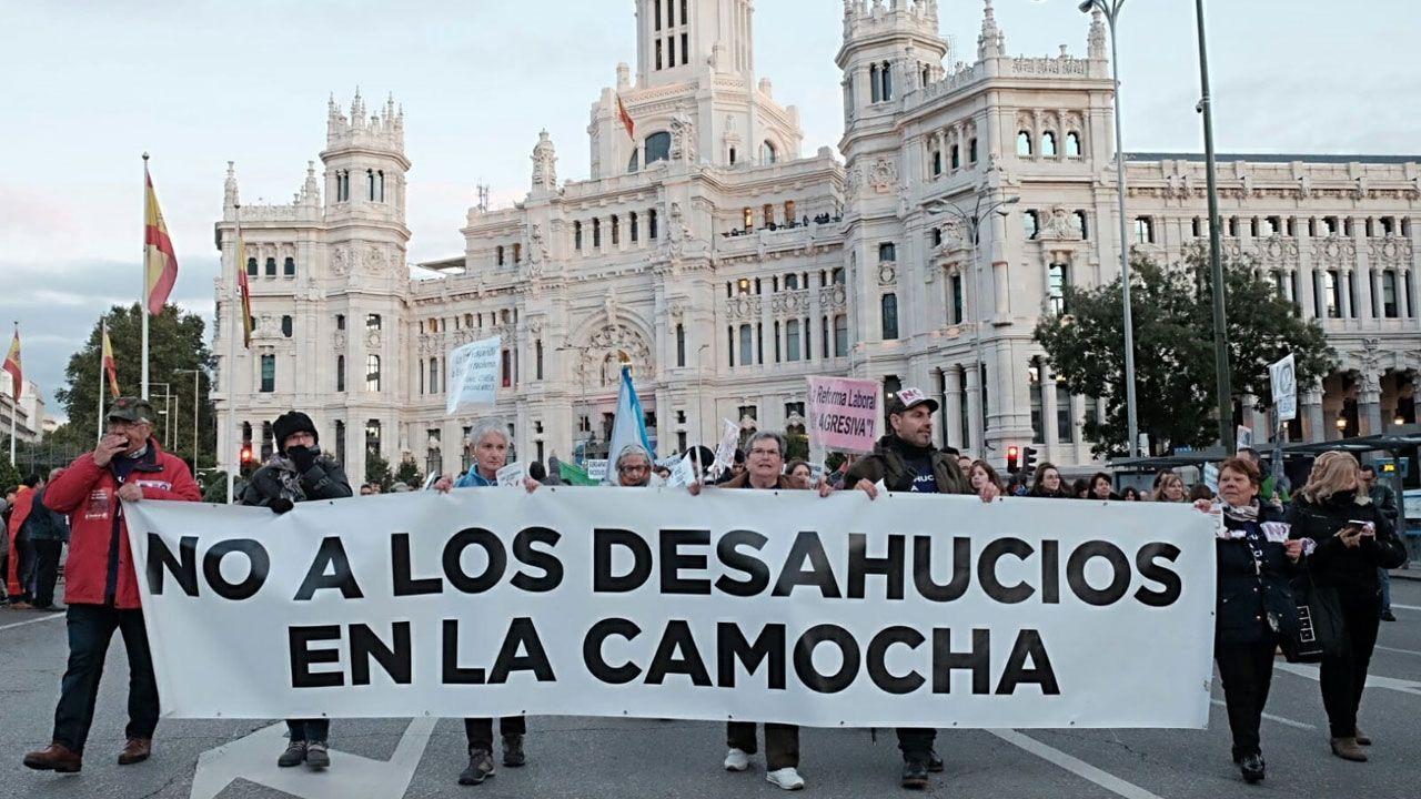 En la manifestación contra la precariedad laboral en Madrid