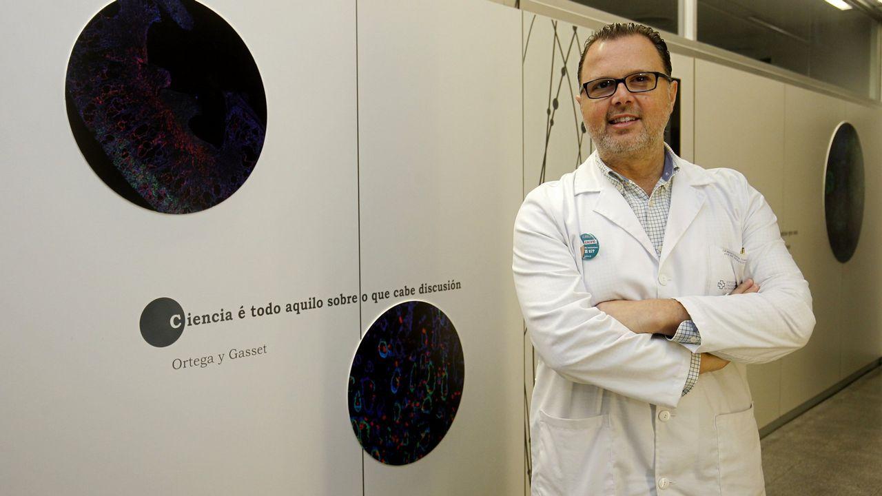 Santiago estrena el cuarto acceso de la AP-9.Luís Villares y Xosé Manuel Beiras
