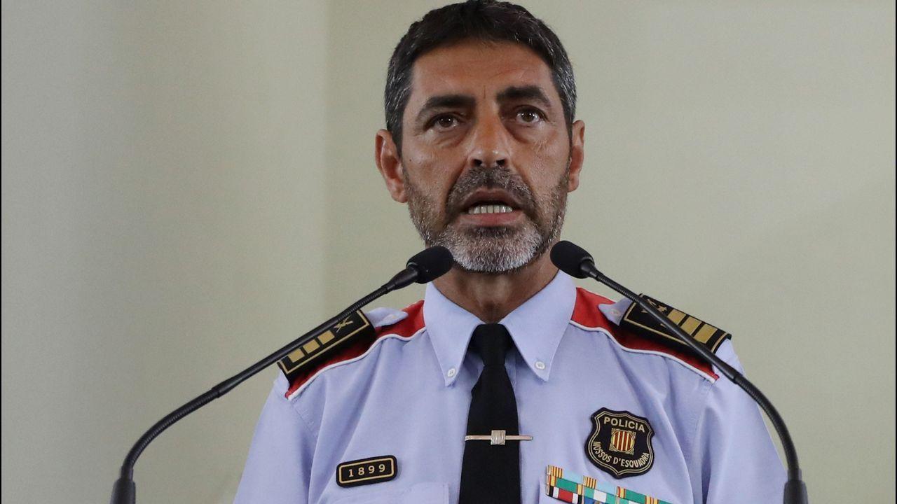 Lluis Trapero, Mayor de los Mossos de Escuadra, durante su comparecencia ante los medios tras la reunión del gabinete de crisis