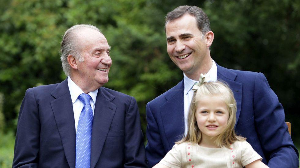 .En septiembre del 2012 junto a su abuelo y su padre.