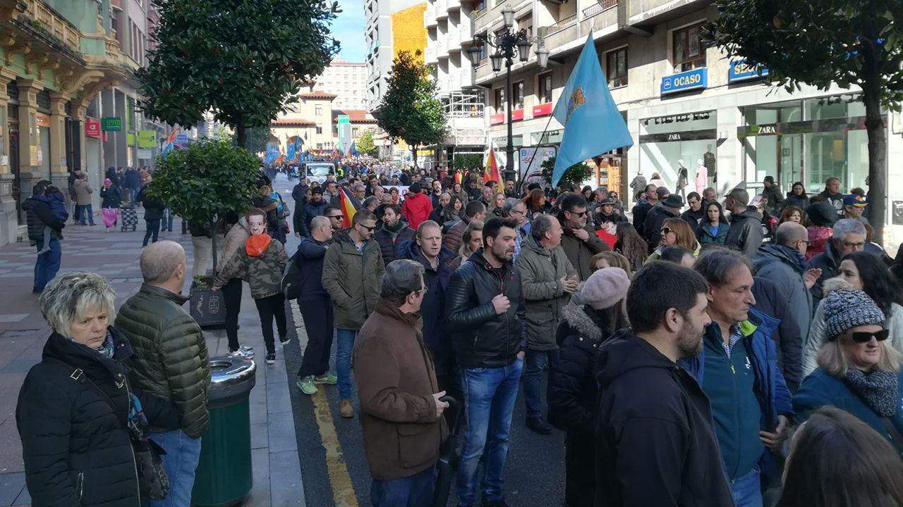 Manifestación convocada por la asociación Jusapol por la equiparación salarial de los policías