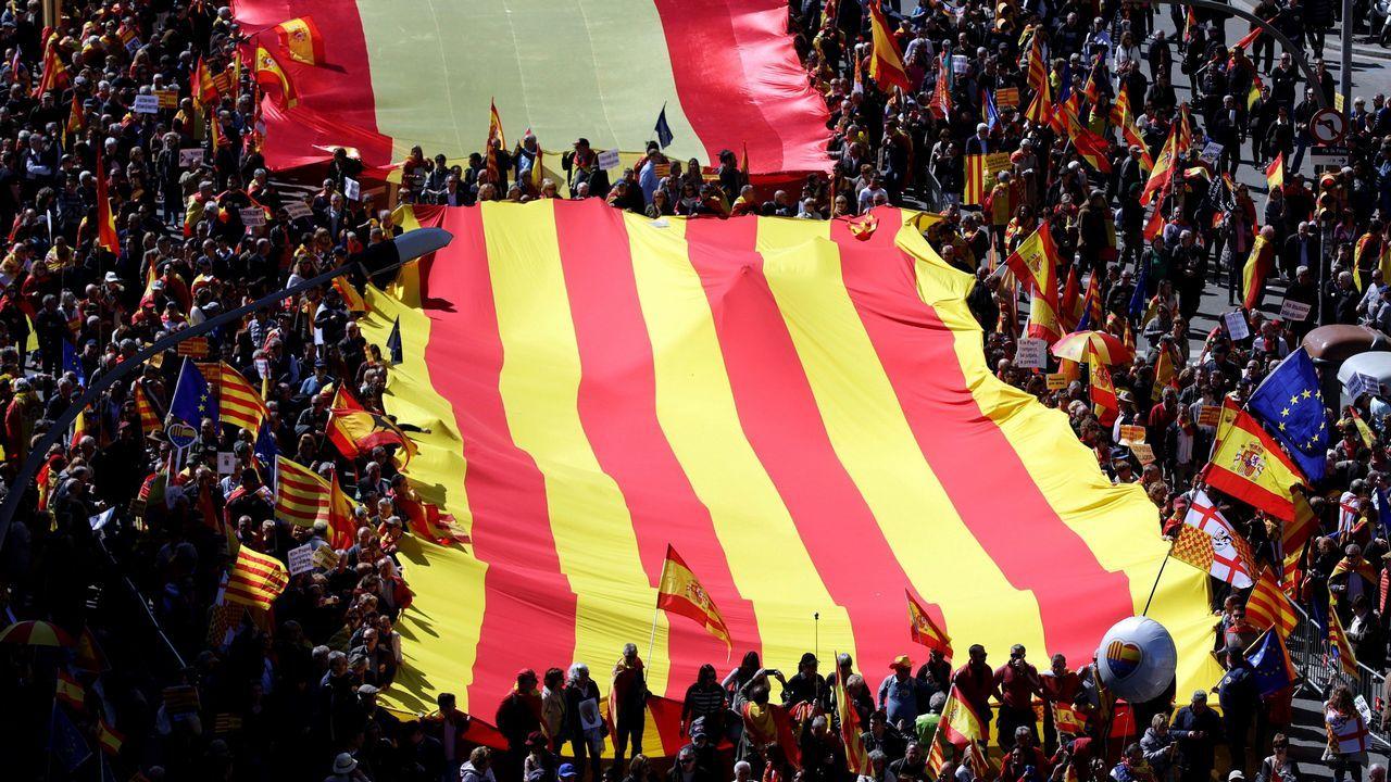 Las lecciones de Aznar y la respuesta del PP.Los diputados de JxCat Jordi Turull (derecha) y Josep Rull, el pasado 12 de marzo