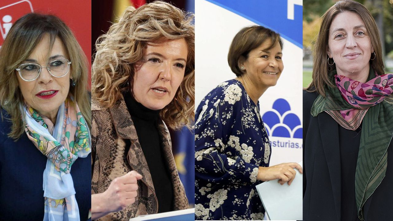 Ángela Vallina, Teresa Mallada, Carmen Moriyón y Lorena Gil