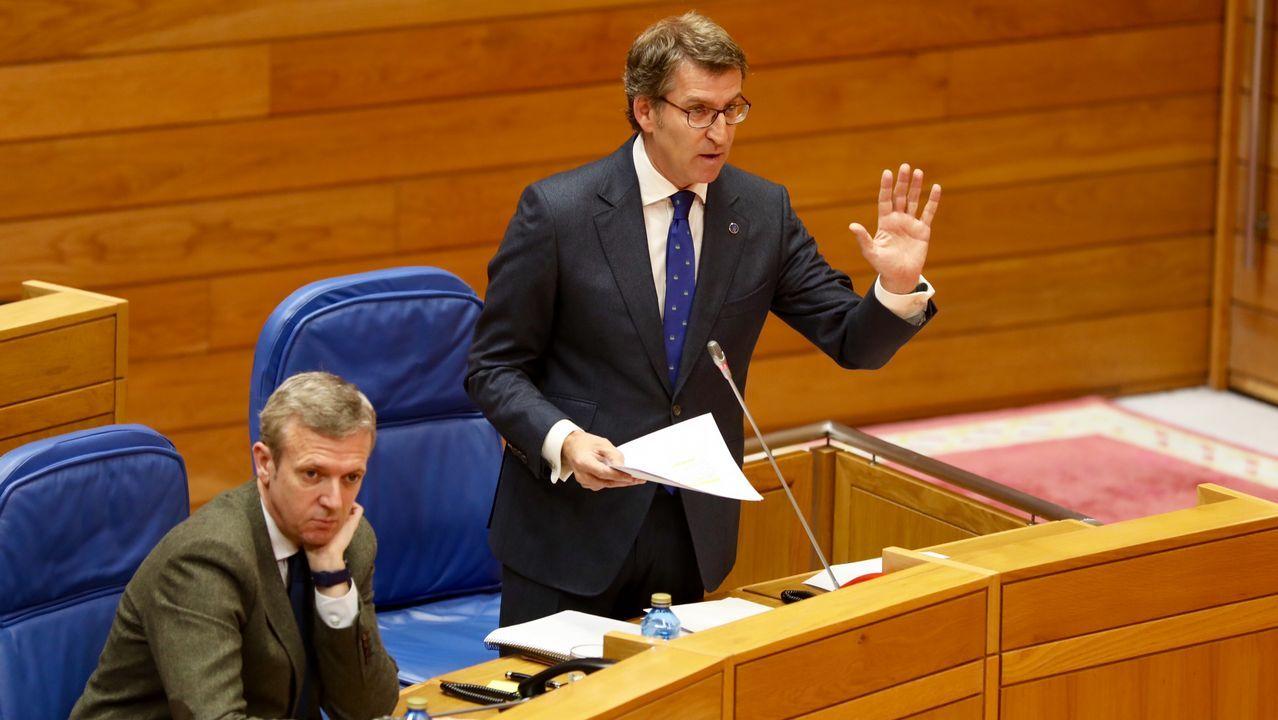 Feijoo se encara con Villares tras su contundente ataque al expresidente Albor