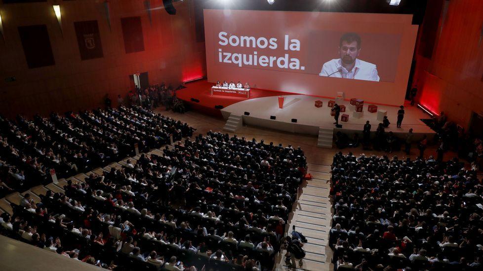 Luis Tudanca, presidente del Congreso Federal del PSOE, se dirigie a los delegados durante la inauguración del cónclave socialista.