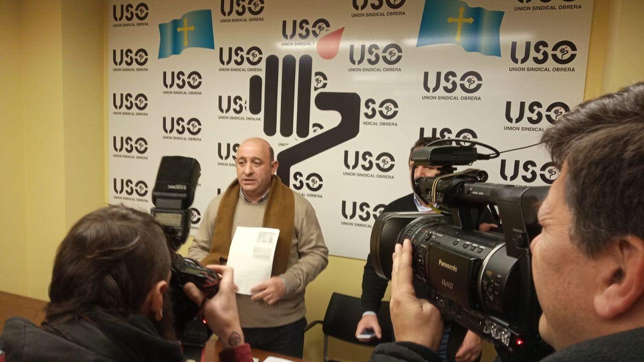 AUTOBÚS OVIEDO.Manuel Villaverde, presidente del comité de empresa de TUA