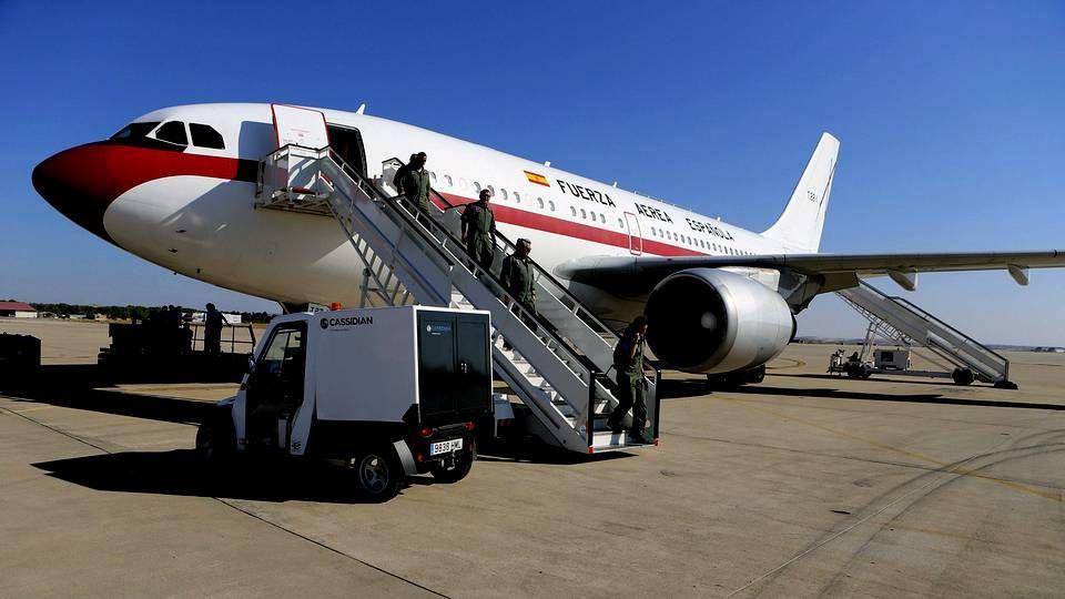 El traslado de un infectado por ébola.El avión medicalizado que repatriará al religioso español contagiado con ébola.