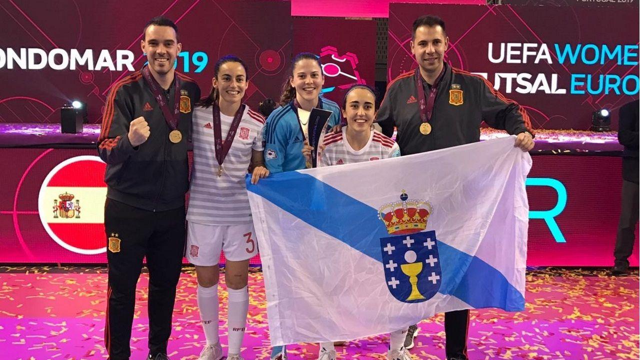 Llegan a Madrid las campeonas de Europa de fútbol sala femenino