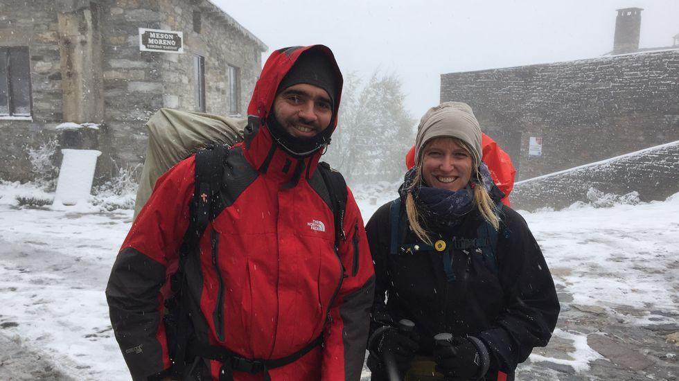 Fuerte nevada en Pedrafita