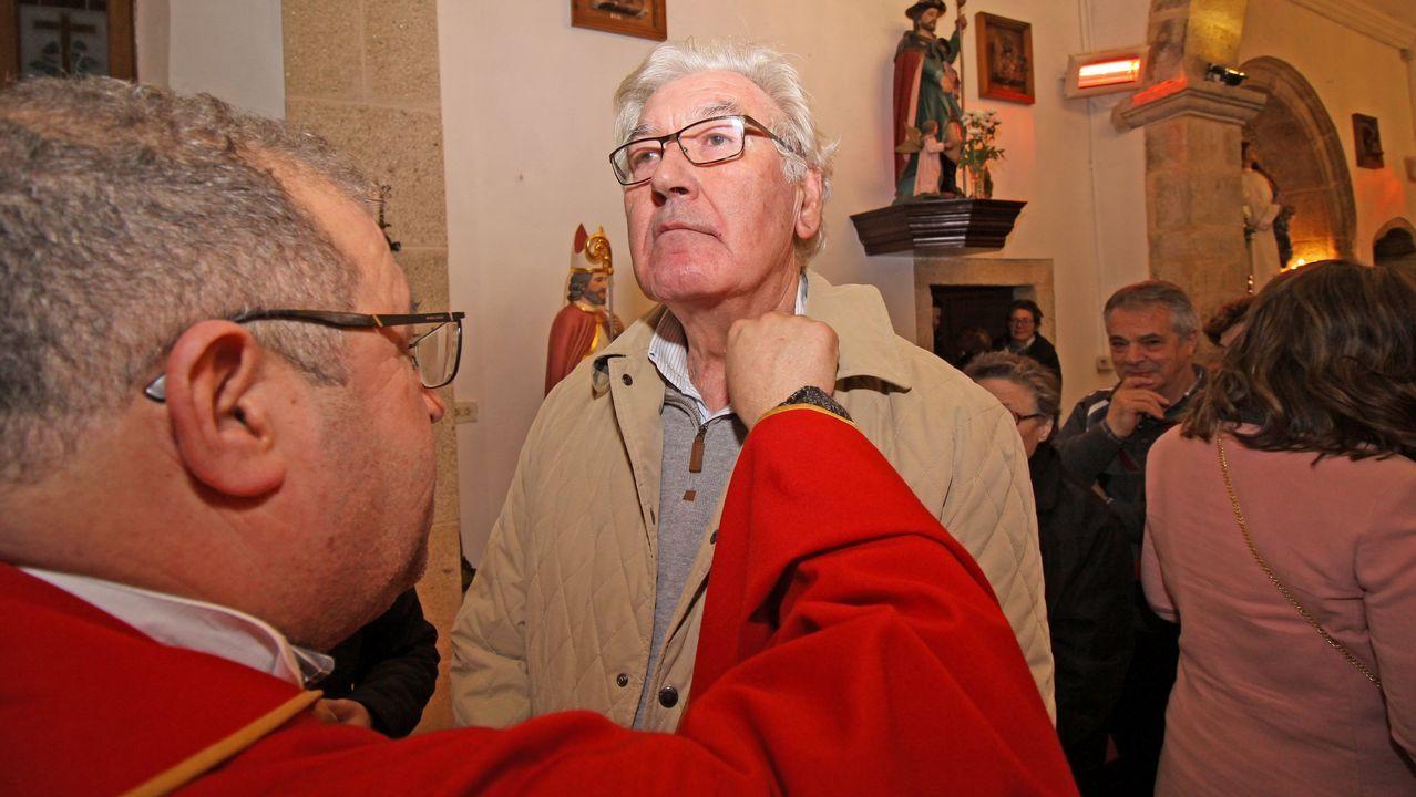Celebración de San Blas en la iglesia de Posmarcos.