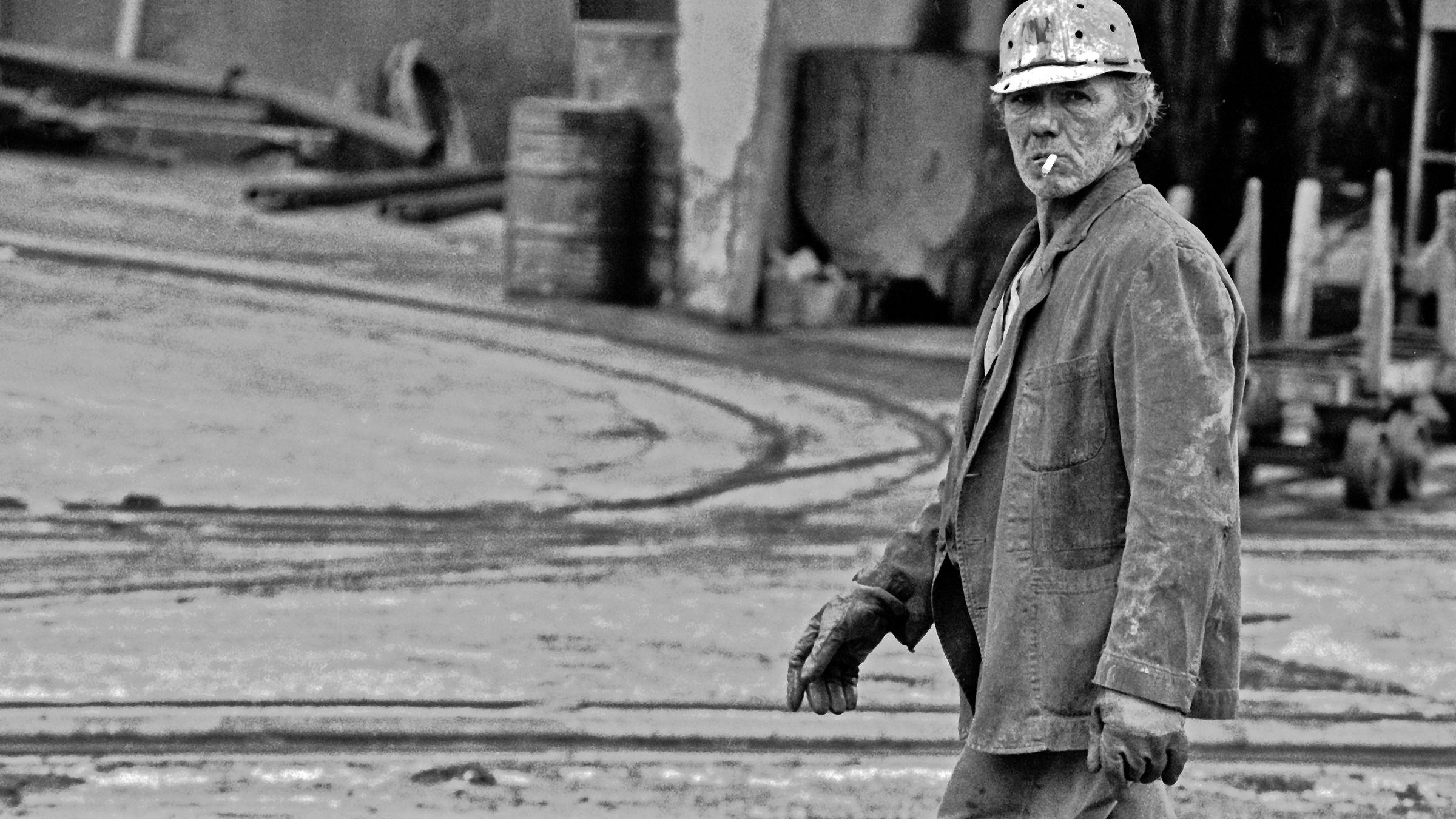 Minero de Minas de Solvay. Lieres. Siero. Asturias 1992
