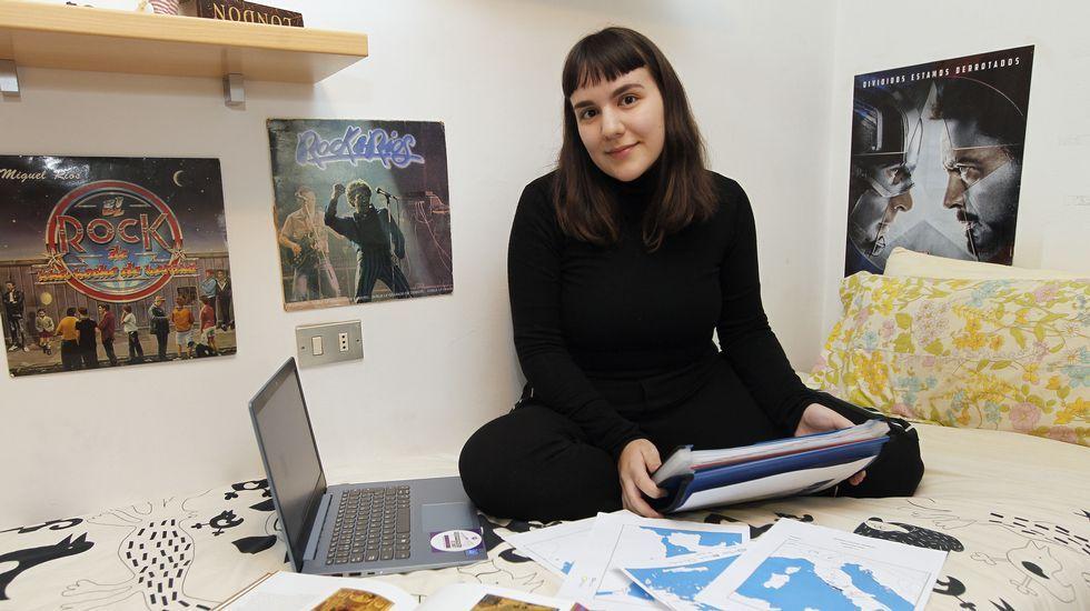 Sofía Mediero, estudiante viguesa que ha cambiado de carrera