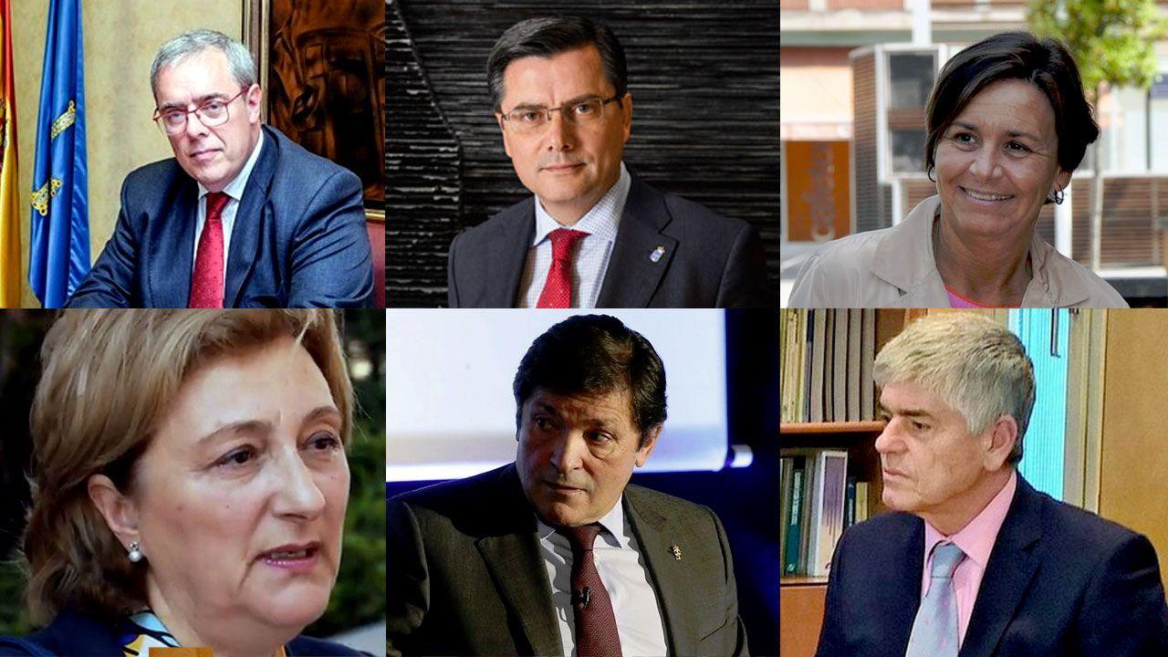 .Gregorio Rabanal, Pedro Sanjurjo, Carmen Moriyón, Delia Alonso, Javier Fernández y Santiago Fernández