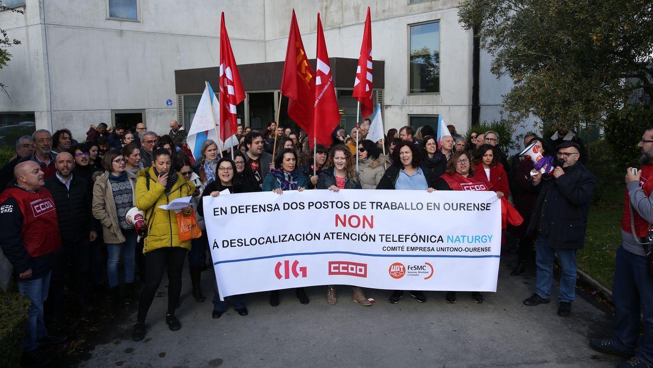 Ana Cedeira, comite de oficinas de Ence .USO, UGT y CCOO critican la actuación de la CSI en Vauste