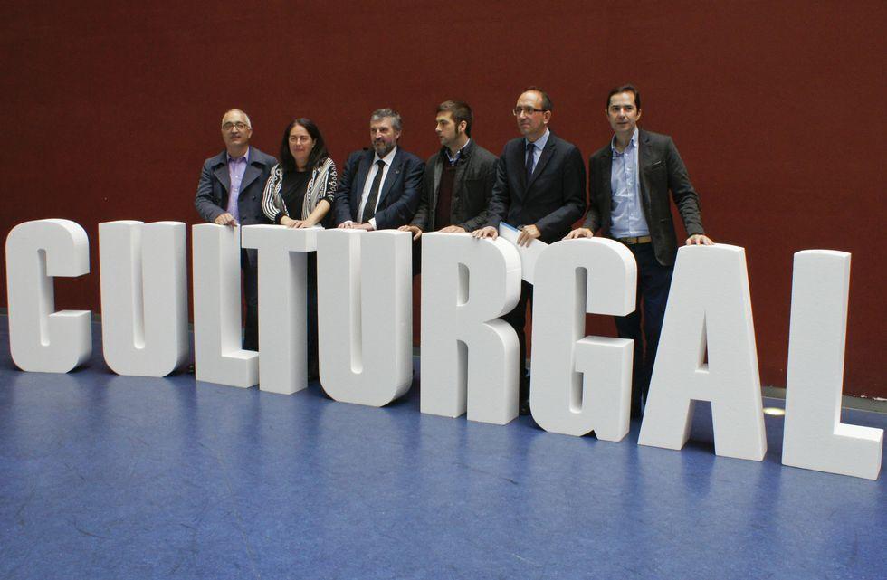Organizadores y patrocinadores de Culturgal presentaron ayer la octava edición de esta feria.