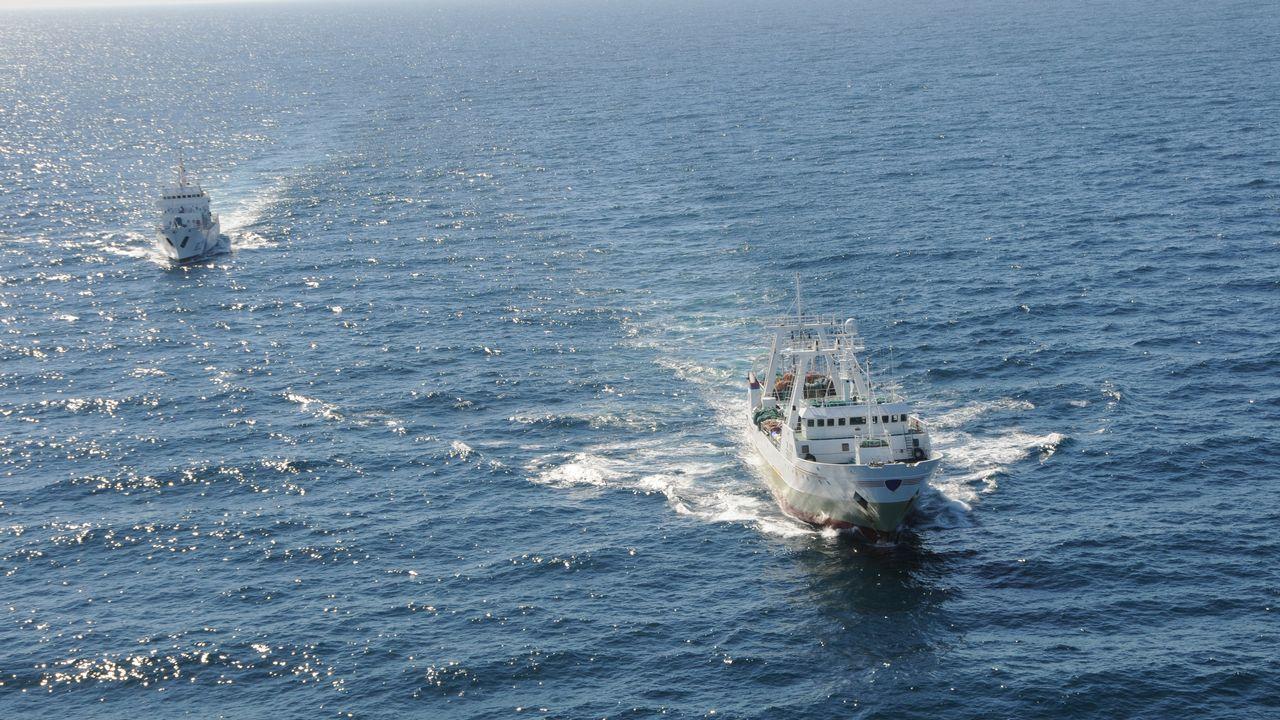 Marisco confiscadoa furtivos por los vigilantes de la cofradía de A Illa de Arousa