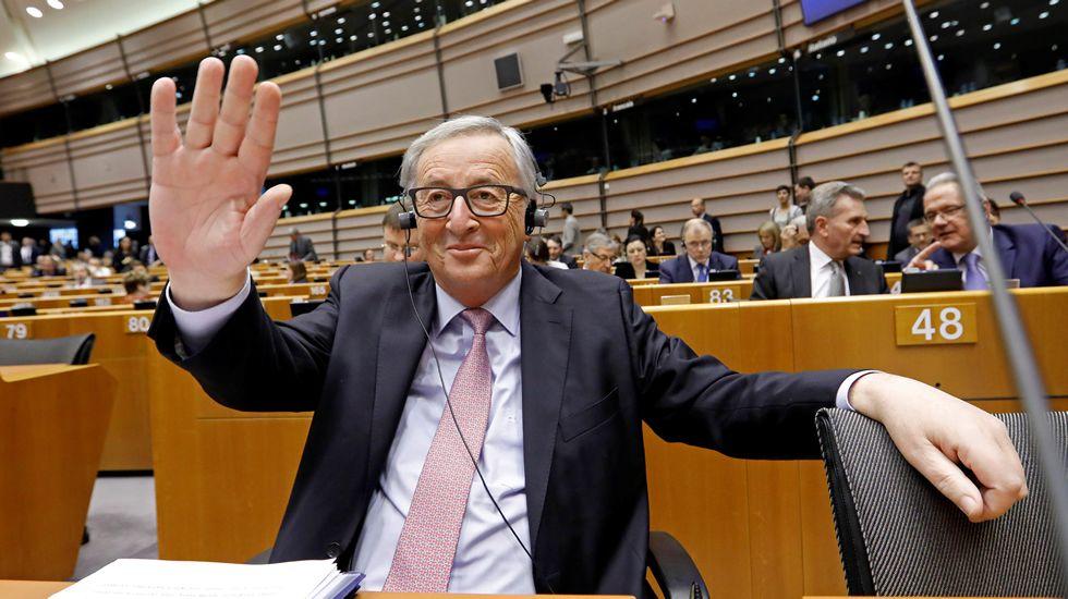 JUNCKERH.Jean-Claude Juncker y Theresa May durante una reunión celebrada en Malta el pasado mes