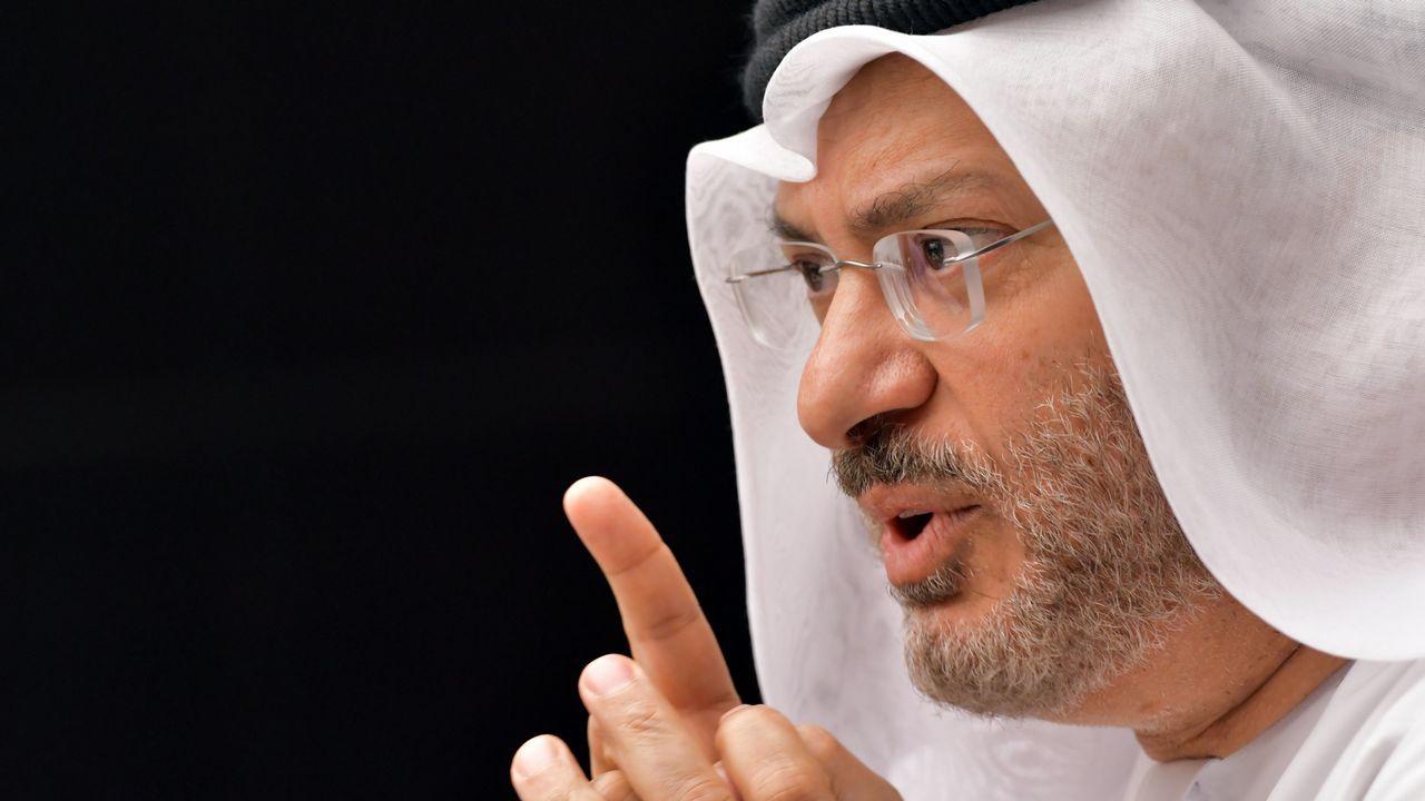 .El ministro de Exteriores de Emiratos Árabes, Anwar Gargash