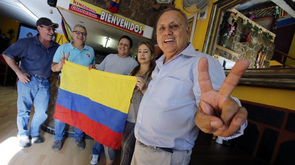 La colonia colombiana en Galicia apoya el sí.Los votantes del no tomaron las calles de las principales ciudades de Colombia para festejar la victoria en el plebisticio.
