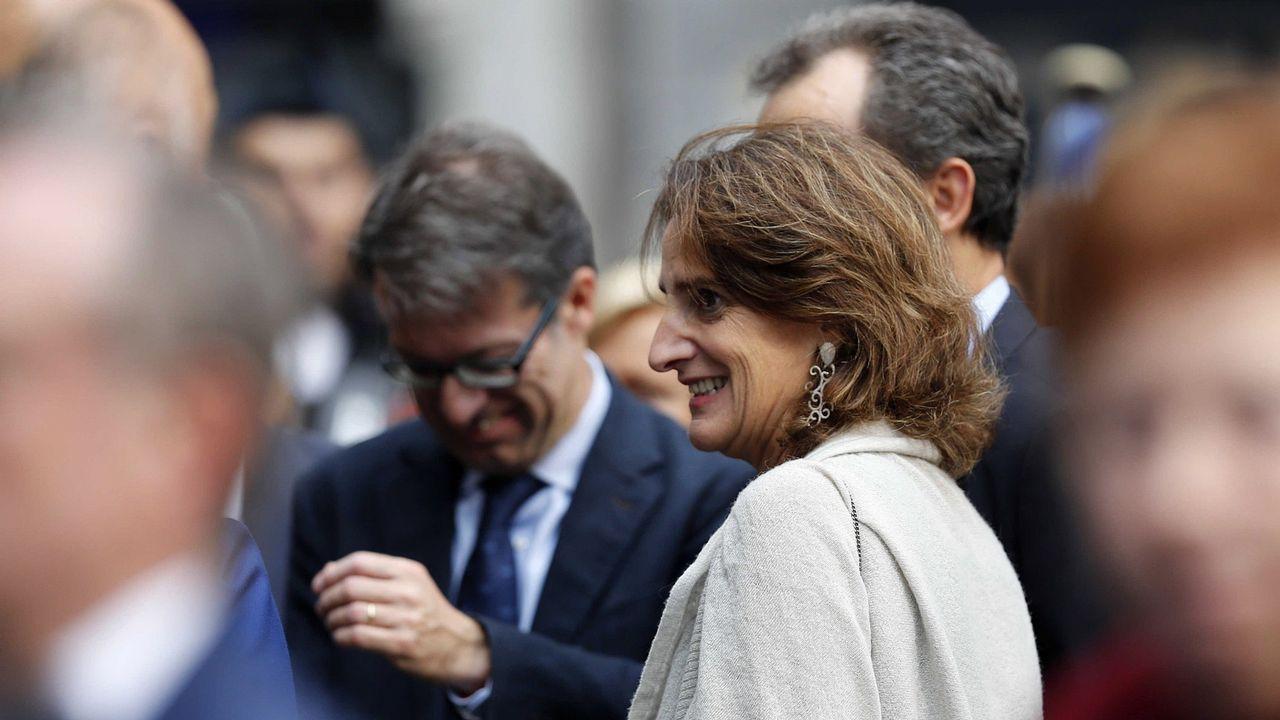 La ministra Teresa Ribera, durante la ceremonia de los Premios Princesa de Asturias