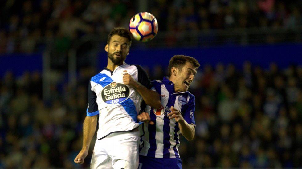 El Alavés-Deportivo, en fotos.Borja Domingo, durante el partido contra el Choco