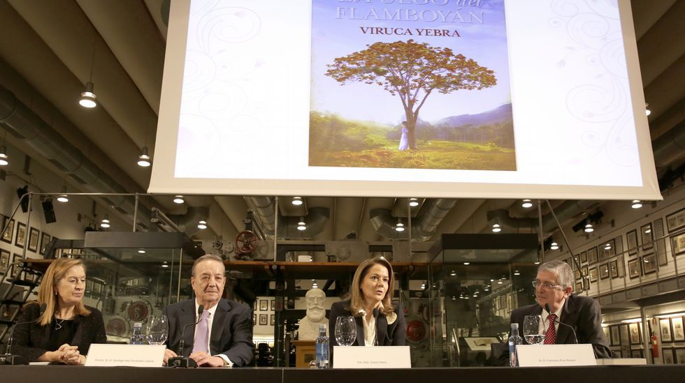Viruca Yebra novela en «El fuego del flamboyán» la emigración gallega en Cuba