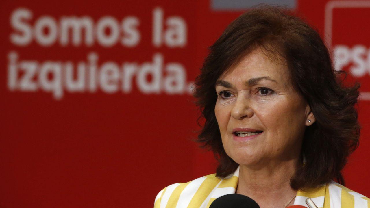 Ministerio de Igualdad, vicepresidenta y ministra de Presidencia y Relaciones con las Cortes: Carmen Calvo