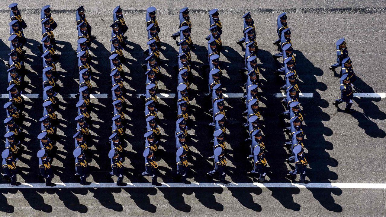 Desfile militar en Azerbayán, en la plaza Azadliq