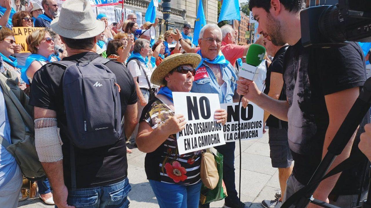 En una manifestación de pensionistas en Madrid