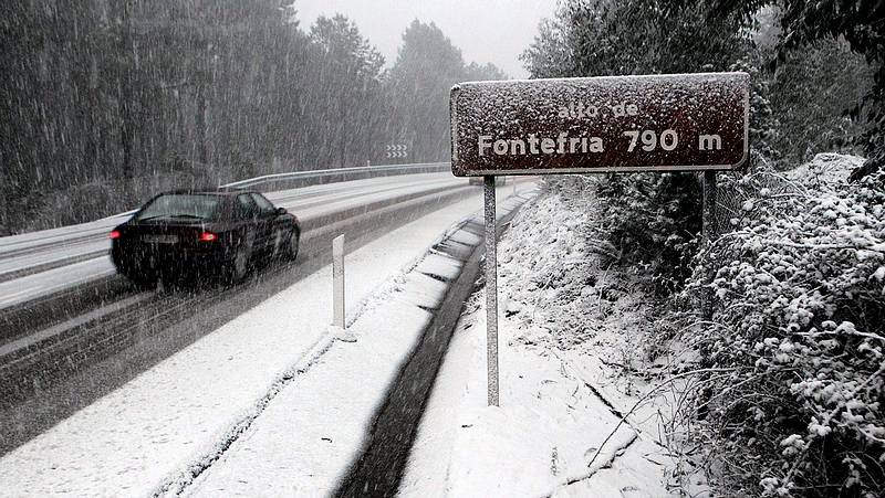 Intensas nevadas en Galicia.Comparecencia del guardia civil ante los magistrados de la Audiencia