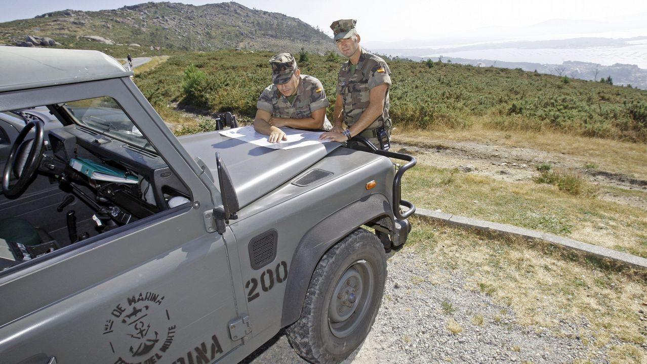 La Guardia Civil refuerza la lucha contra los incendios forestales.Juan Picos, director de la Escola de Forestais de Pontevedra
