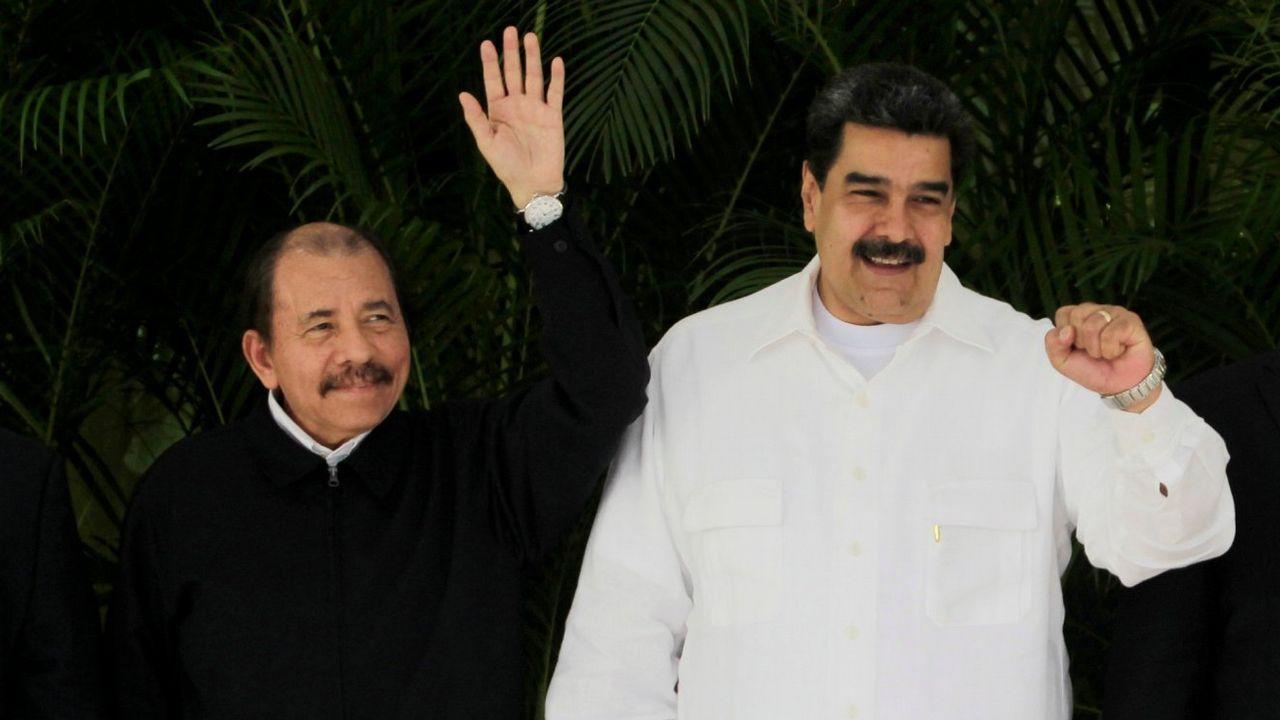 Daniel Ortega y Nicolás Maduro, durante un encuentro internacional celebrado en La Habana