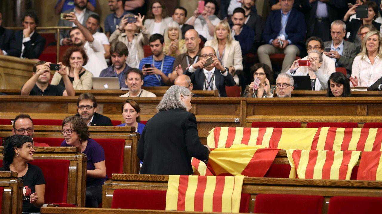 La diputada de Podem que retiró las banderas se rebela contra Pablo Iglesias.