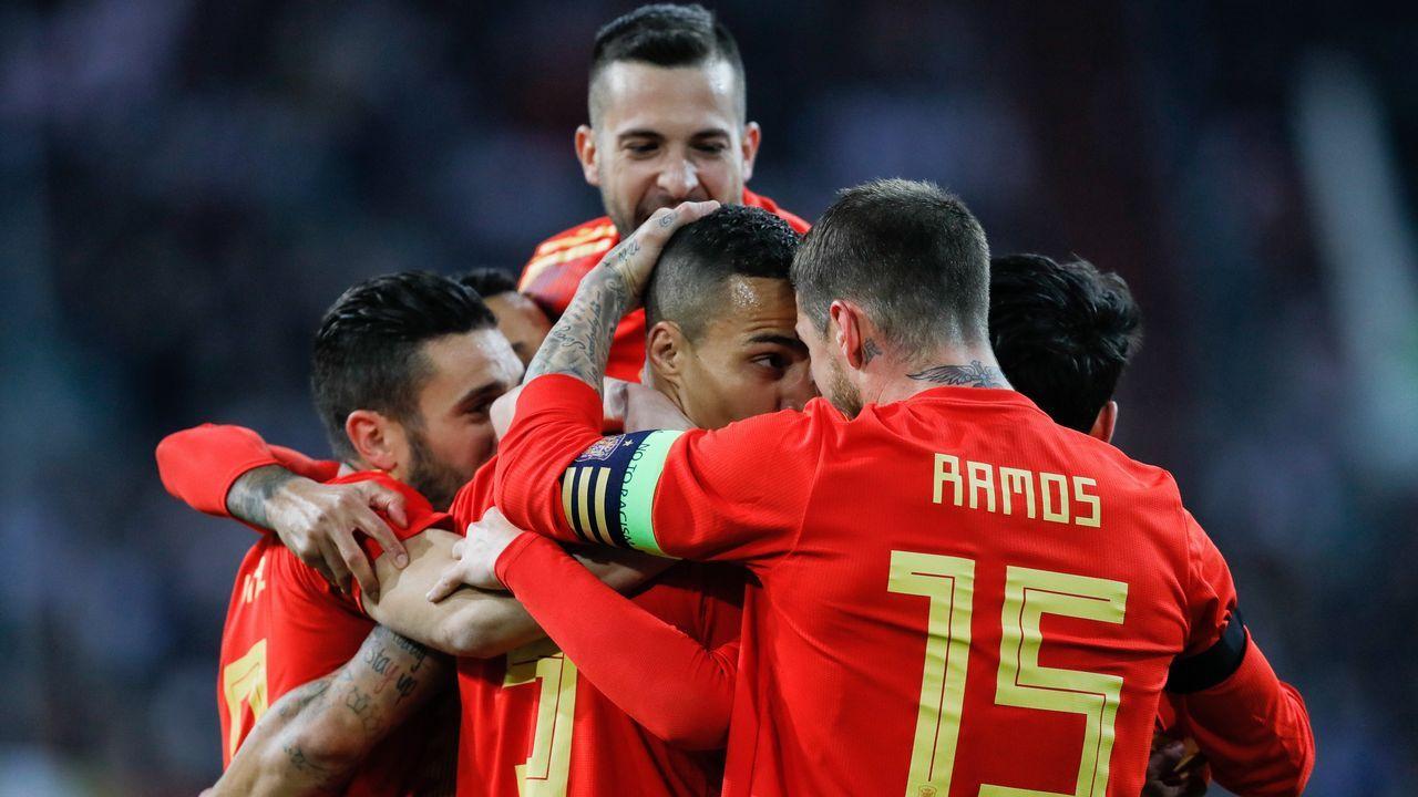 Alemania - España en imágenes.Messi se entrenó ayer en la ciudad deportiva del Madrid, en Valdebebas