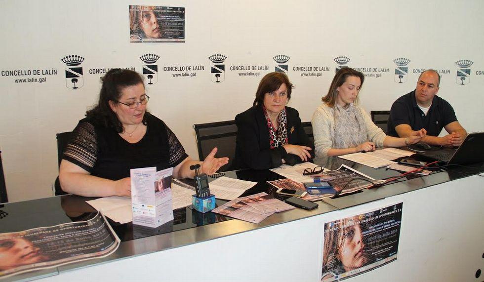 María José Méndez, Celia Alonso, María Jesús Payo y Celso Taboada.