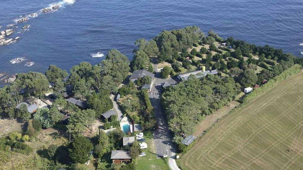 Vista aérea del camping Taurán