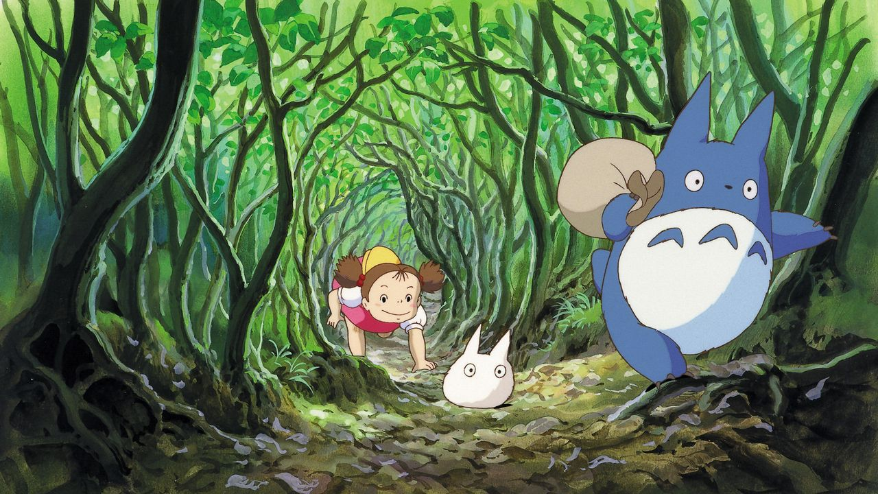 Un fotograma de «Mi vecino Totoro», de Miyazaki