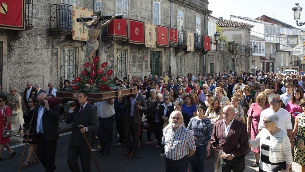 FESTAS DO SAN CIBRAO NO CARBALLIÑO.El pregón teatralizado atrajo a numeroso público