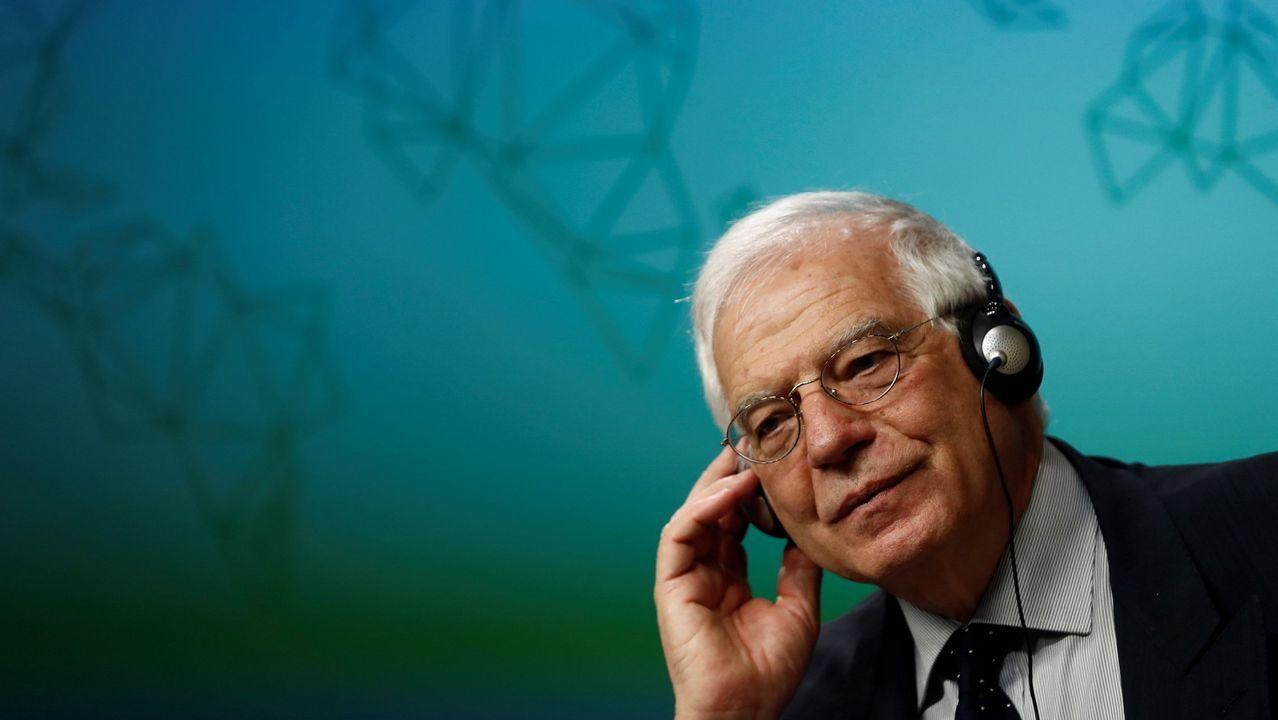 El ministro de Exteriores, Josep Borrell, ayer en Ourense