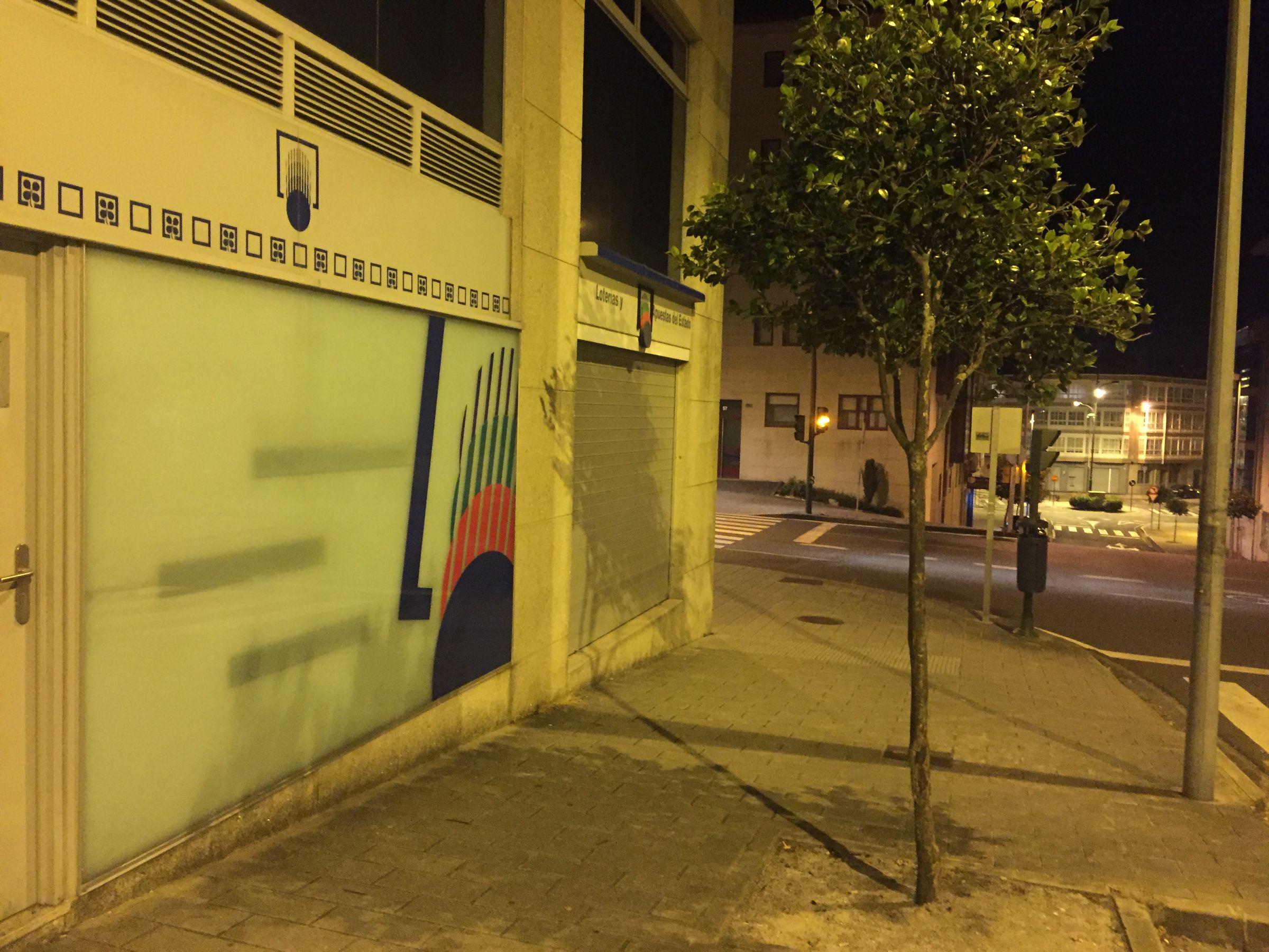 Administración de lotería de la avenida de Ferrol, en Santiago