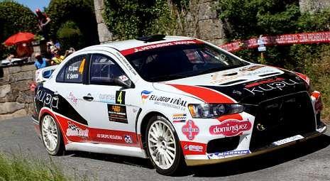 El piloto dumbriés había cosechado sendos cuartos puestos en las pruebas de Vigo y Ourense con su Mitsubishi Evo.